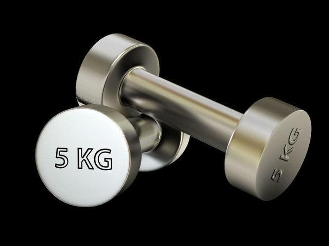 gym dumbbell 3d model max obj mtl 3ds fbx tga 1