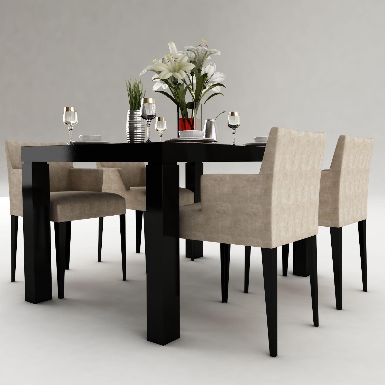 dining table 50 3d model max obj 3ds fbx