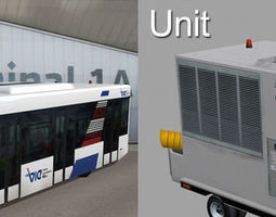 3D Airport support equipment vehicle pack