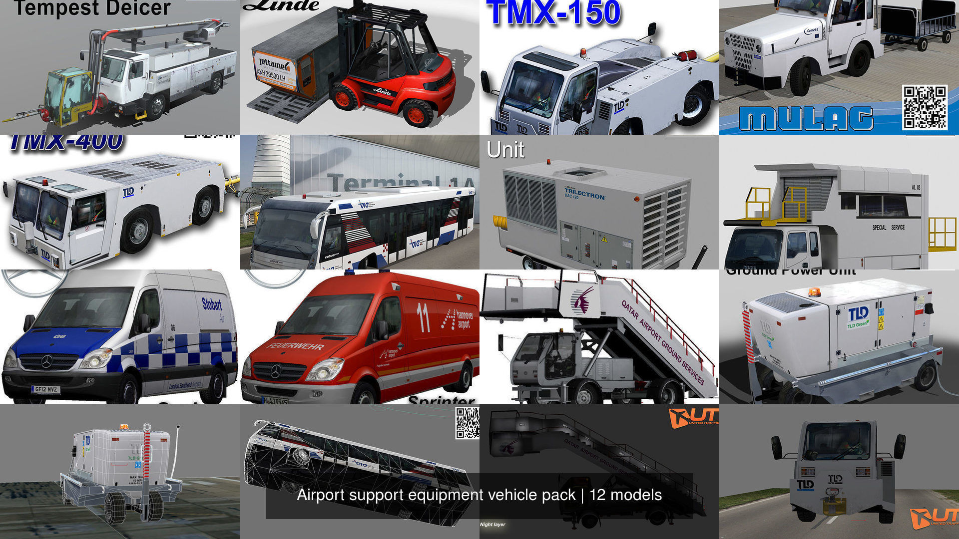Airport support equipment vehicle pack