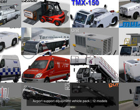 Airport support equipment vehicle pack 3D model