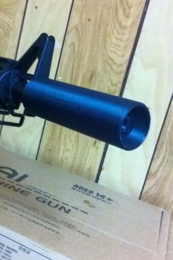 Hop up Silencer Suppressor for M4a1 gel blaster 135mm V2 | 3D Print Model