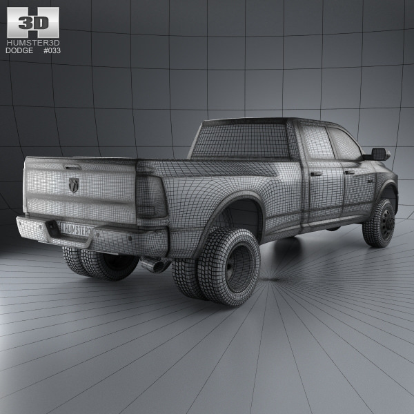 2008 Dodge Ram 3500 Quad Cab Camshaft: Dodge Ram 3500 Crew Cab Dually Laramie 8-foot Box 2012 3D