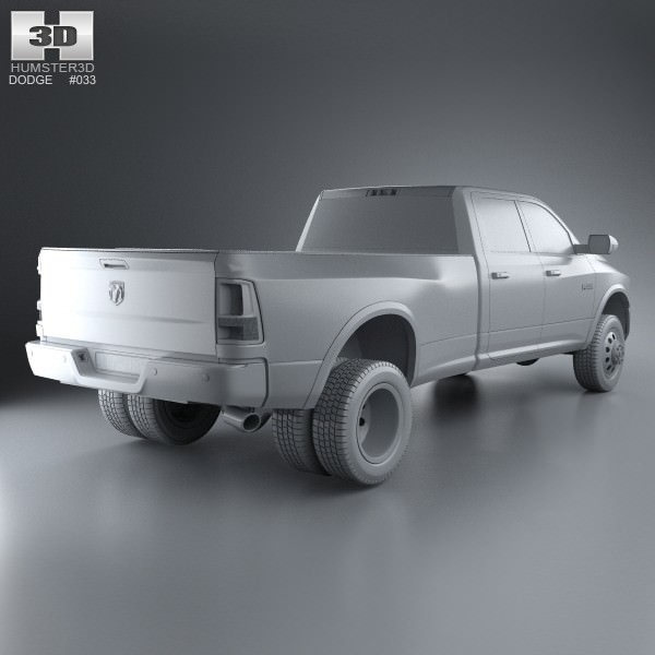 2008 Dodge Ram 3500 Quad Cab Camshaft: Dodge Ram 3500 Crew Cab Dually Laramie 8-f... 3D Model