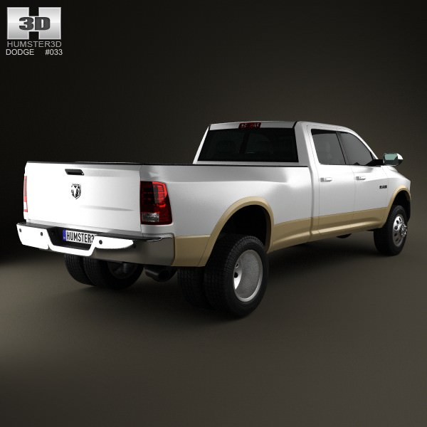 2017 Dodge Ram 2500 Mega Cab 4x4 Laramie Using Illusion: Dodge Ram 3500 Crew Cab Dually Laramie 8-f... 3D Model