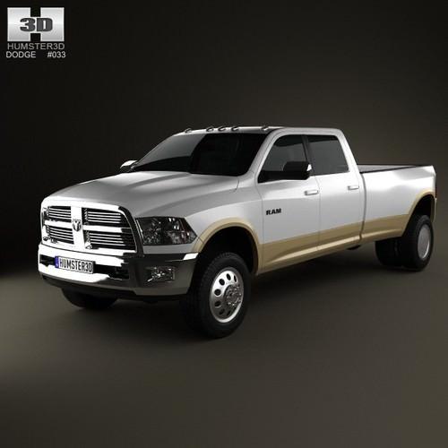 Dodge Ram 3500 Crew Cab Dually Laramie 8-f... 3D Model