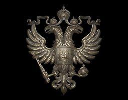 Coat of arms of Russia 3D print model