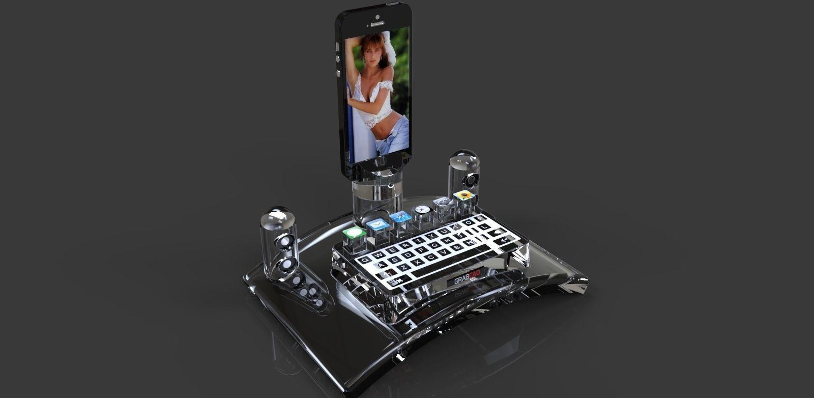 Iphone 5 Dock Station Free 3d Model Stl Dwg Ige Igs Iges