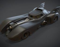 3D asset Bat Mobile 1989