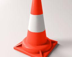 3D asset VR / AR ready Traffic cone