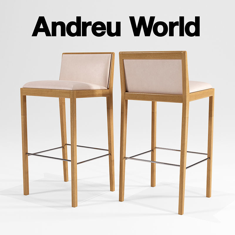 Fabulous Andreu World Carlotta Bq0943 3D Model Evergreenethics Interior Chair Design Evergreenethicsorg