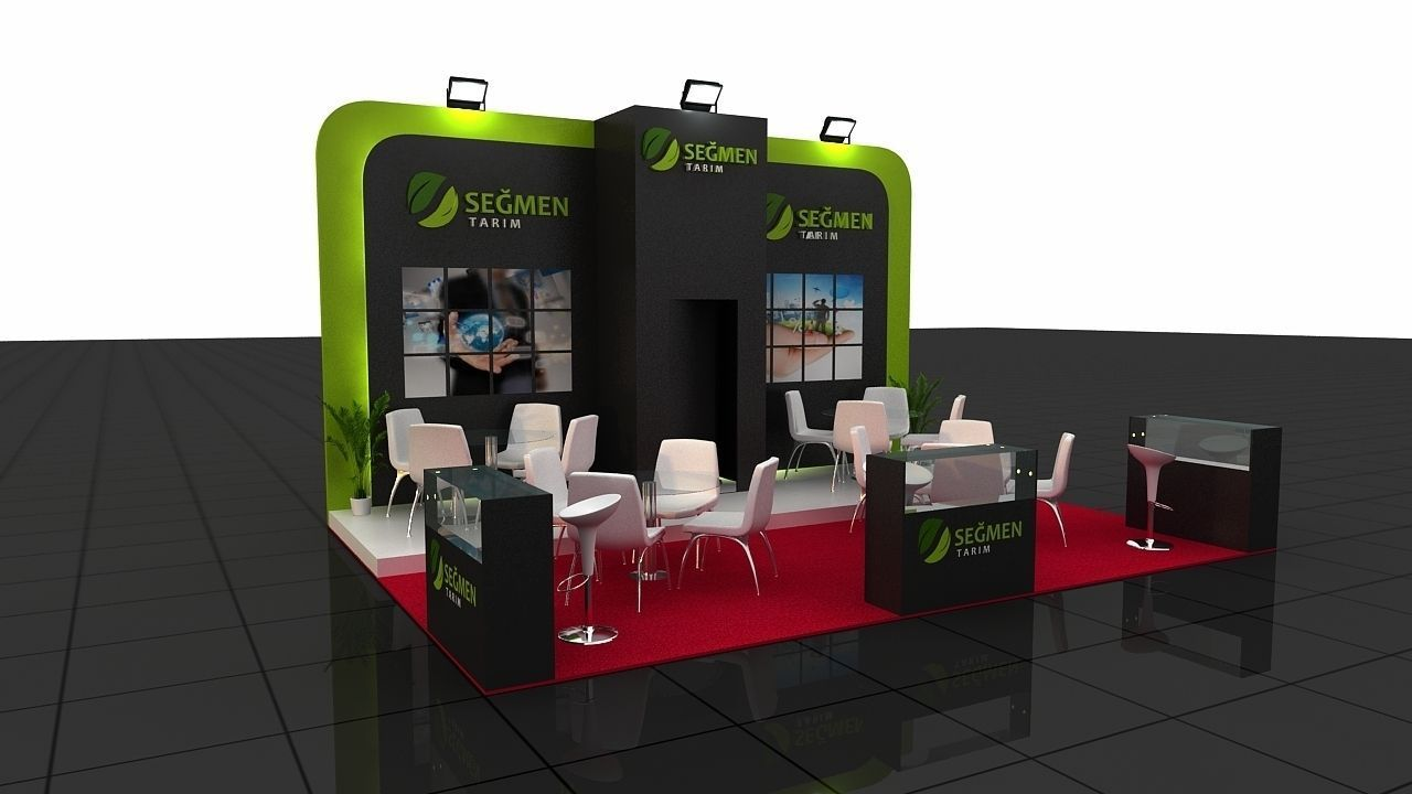 Exhibition Stand Design 3d Max : Segmen exhibition stand d cgtrader