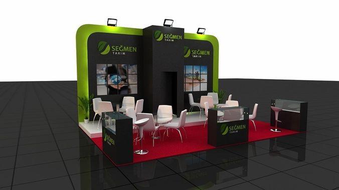 Segmen Exhibition Stand3D model