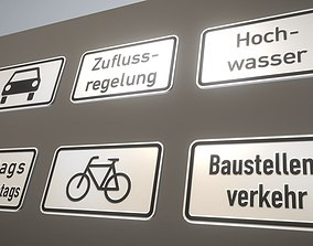 3D asset Additional traffic signs from germany Package 4