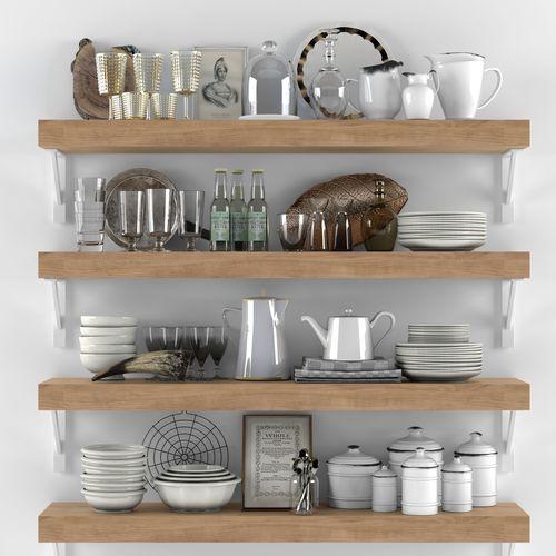 Kitchen Set 10 3d Model Cgtrader