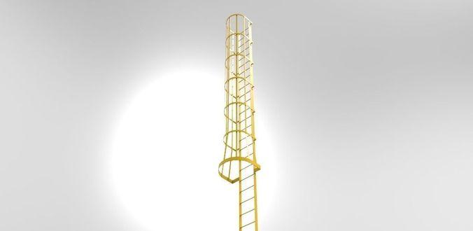 Flat bar cage ladder free 3D Model .dwg - CGTrader.com