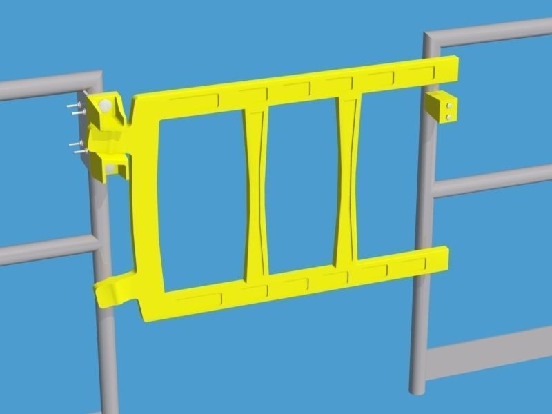 Double bar safety gate free d model dwg cgtrader