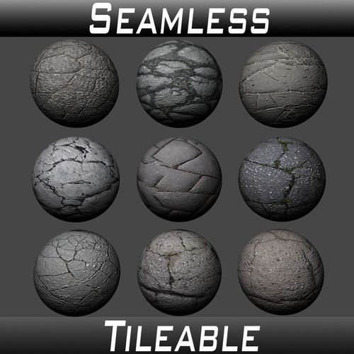 ground cracked asphalt textures pack 3d model  1