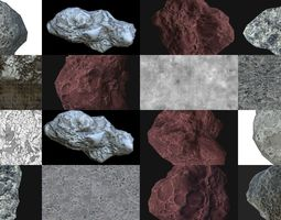 Asteroids and meteorits Pack 3D model