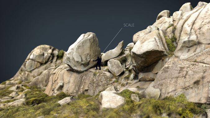 mountain rocks 1 3d model max obj mtl fbx ma mb 1