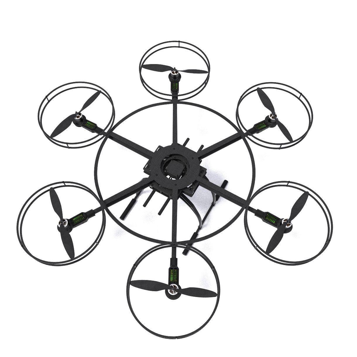 hexacopter drone | 3D model