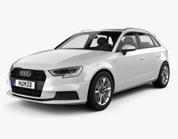 3D Audi A3 Sportback g-tron 2016