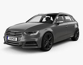 3D model Audi S3 Sportback 2016