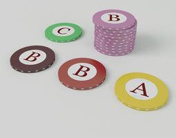 3D Casino Roulette Chips