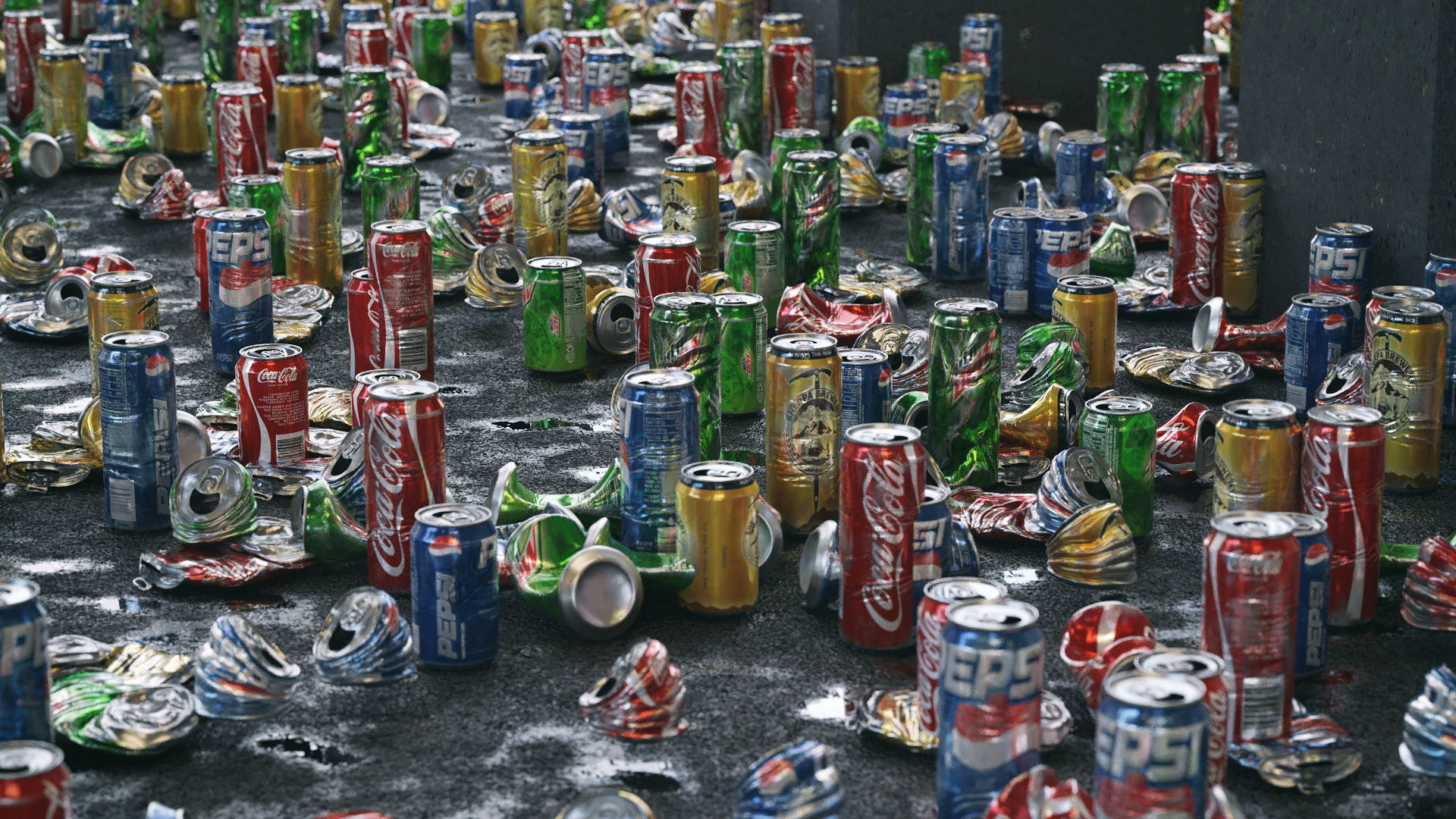 Trash Cans Garbage 24 Types - 3D Asset Kit PBR