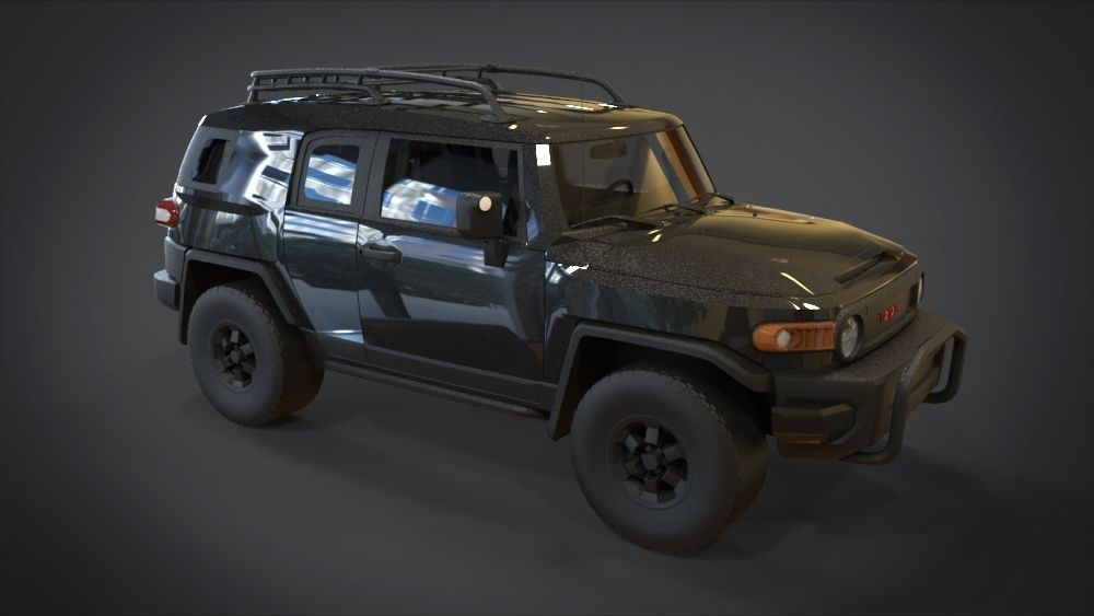 Toyota FJ Cruiser (2010) 3D Model - 3D CAD Browser