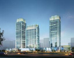 Skyscraper Business Center 3D model city