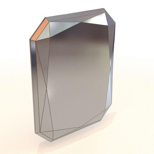 west elm faceted mirror 3d model max obj mtl fbx 1