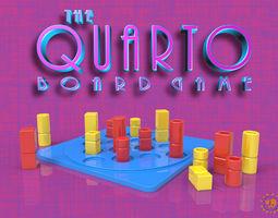 3D printable model 2player Quarto Board Game