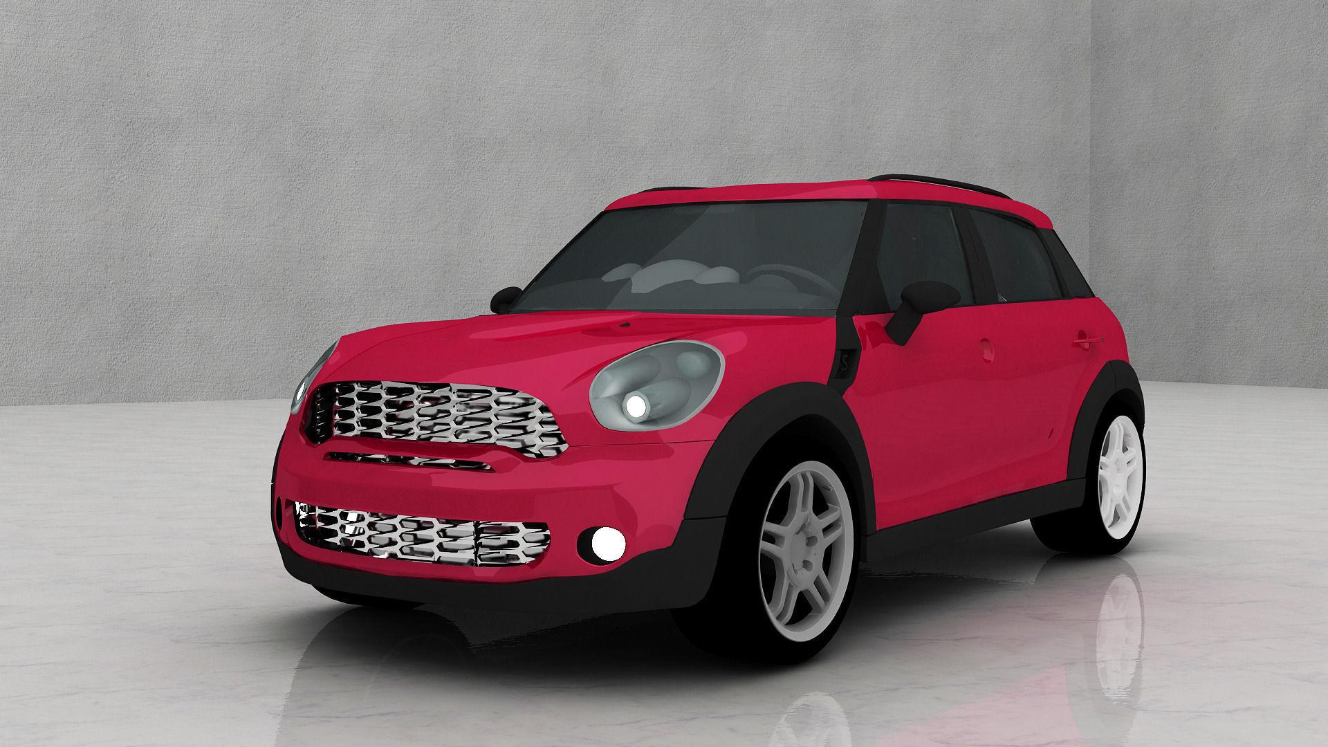 mini cooper car 3d model max 5