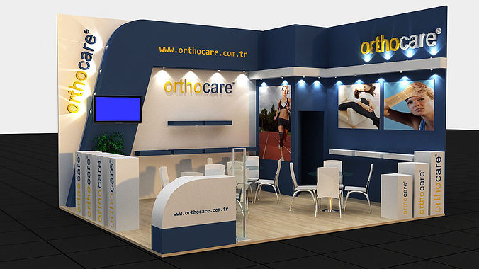 Exhibition Stand 3d Model Sketchup : Orthocare exhibition stand d model max cgtrader