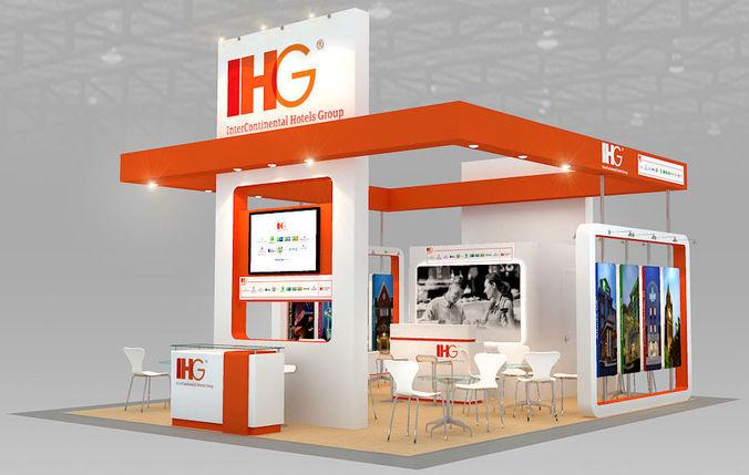 booth ihg hotel design size 7 x 6m 42sqm 3d model max obj mtl 3ds dwg 1