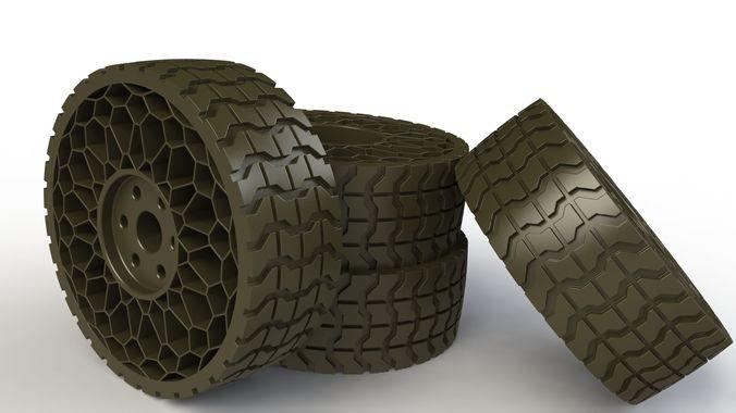 airless tyre v2 3d model max obj mtl stl sldprt sldasm slddrw stp 1