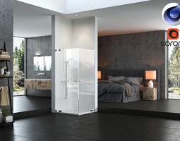 Bathroom 01 C4D Corona Renderer 3D