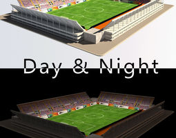 Stadium Level 1 Day-Night 3D Model