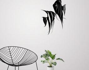 3D print model Angel fish wall art and Decor