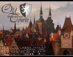 3D model Old European Town