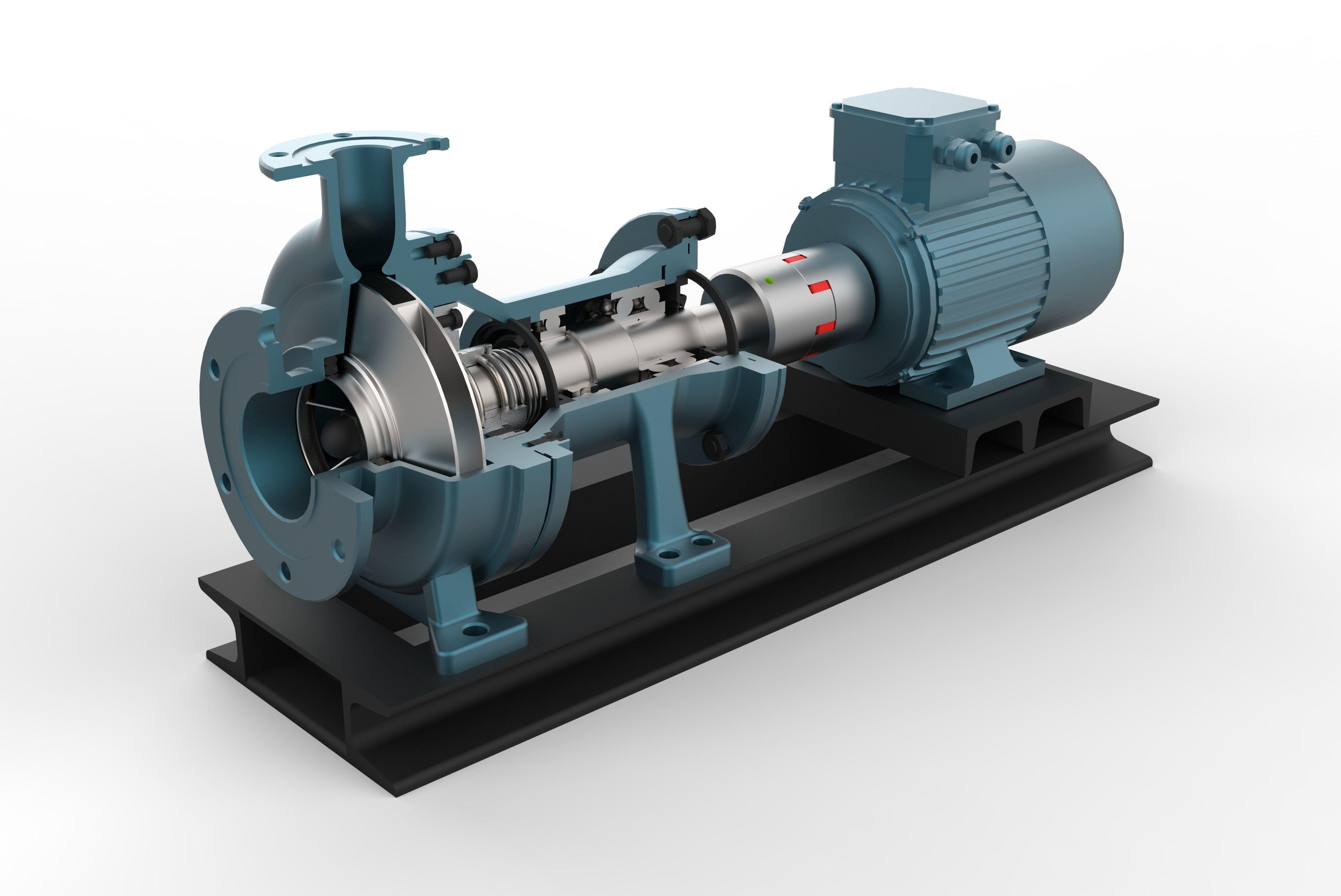 Centrifugal Pump with AC motor