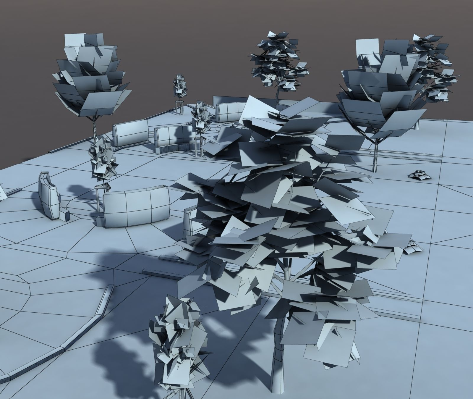 Low poly Park 3D Model Game ready .max .obj .3ds .lwo .lw ...