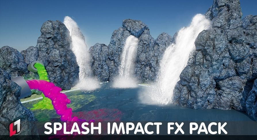 Splash Impact Pack - Unreal Engine 4 | 3D model