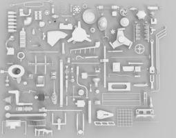 3D asset game-ready Kitbash
