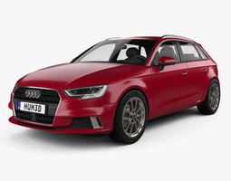 Audi A3 Sportback 2016 car 3D model
