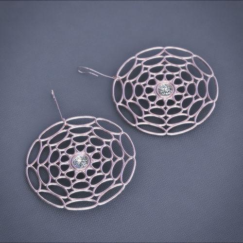 earrings disc 3d model stl 3dm 1