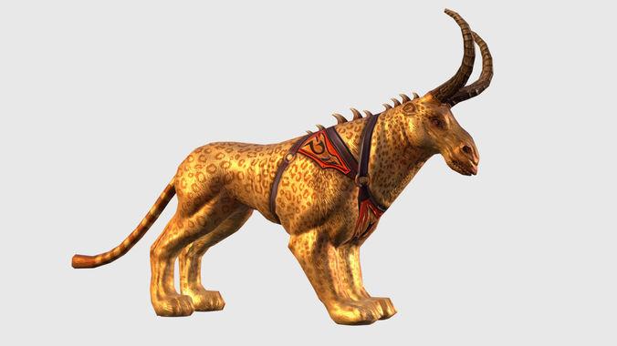fantasy character mmo rpg game lowpoly monster mount dinosaur di 3d model max obj mtl fbx ma mb tga 1