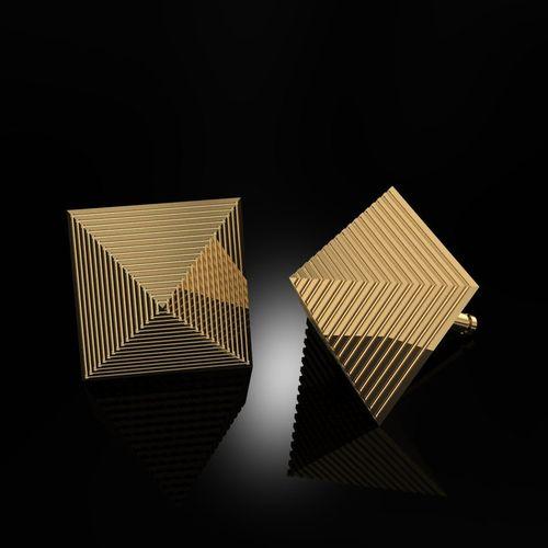 earrings pyramids 3d model stl 3dm 1
