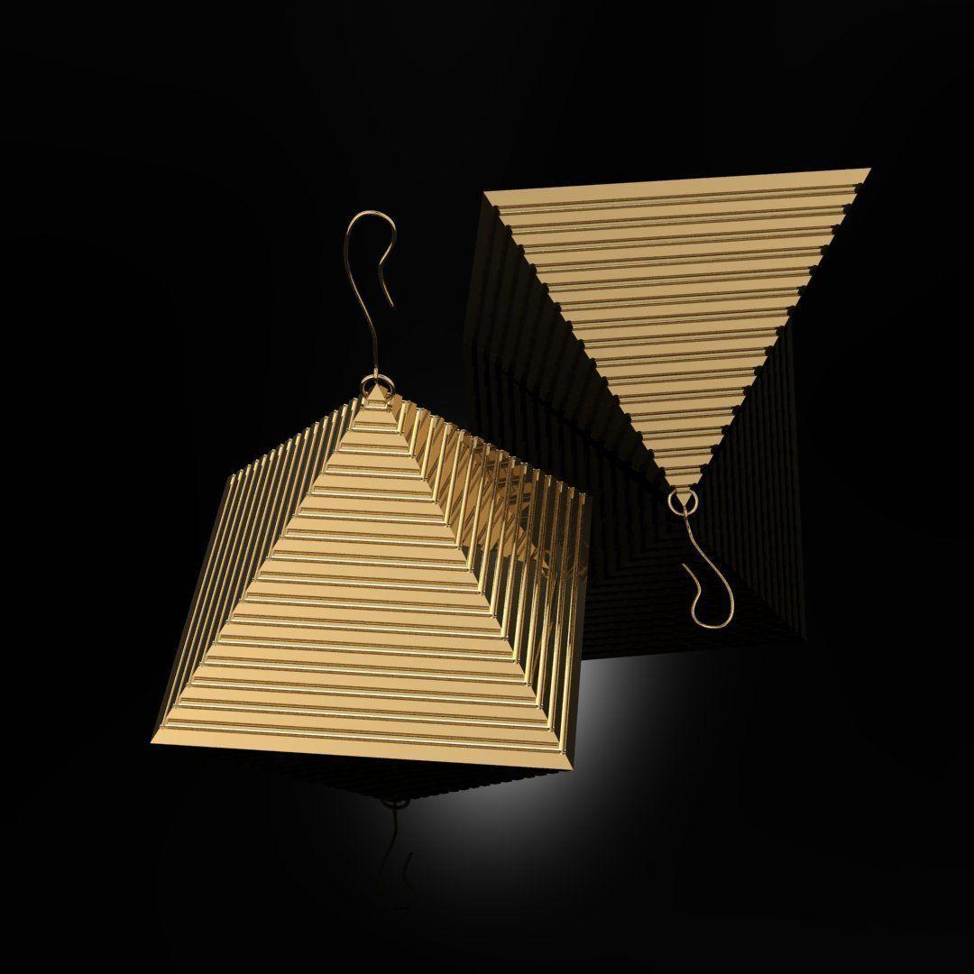 Earrings Pyramids